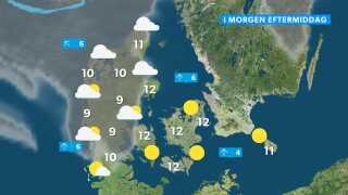Skytæppet er trukket for Jylland. Dette er prognosen for tirsdag ved 14-tiden. Senere på eftermiddagen trækker skyerne over Jylland lidt længere nordpå, så måske får også sønderjyderne og midt- og vestjyderne lidt solkig allersidst på dagen.