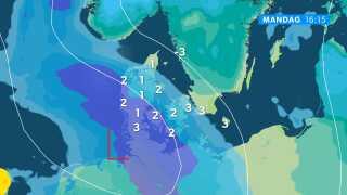 """Lavtrykket har taget rejsen fra de Britiske Øer, over Nordsøen og rammer - ifølge den seneste prognose - Danmark juleaftensdag. Det er nok det, nogen vil kalde """"god timing."""""""
