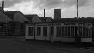 Et billede fra arkivet: Indgangen til Dansk Eternit Fabrik tilbage i 70'erne.