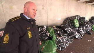 Ved dagens aktion beslaglagde man massevis af cykelhjul til racercykler og mountainbikes, fortæller politiinspektør Torben Svarrer.