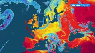 Højtrykket sørger for køligt vejr i Danmark, men lunere vejr til Storbritannien.