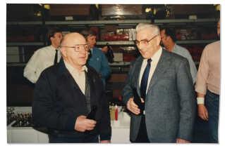 Børge holdt afskedsfest på sit arbejde hos Jydsk Telefon, da han gik på efterløn i 1991.