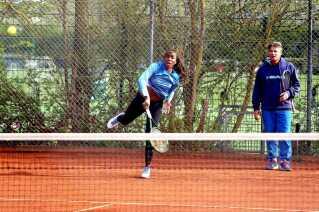 Michael Mortensen træner her Venus Williams.