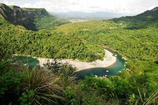 Sådan ser der ud på den frodige filippinske ø Luzon, hvor fortidsmennesket har levet.