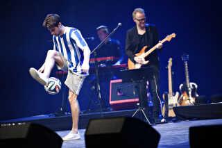 Freestyler Anders Borg Petersen kom også på scenen.