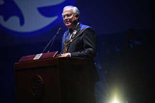 Frederiksbergs borgmester Jørgen Glenthøj (K) holdt også en tale under indvielsen af K.B Hallen.