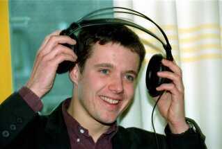 Humøret var højt, da kronprins Frederik gæstede Alex Nyborg Madsens radioprogram på P3 'Maskinen'.