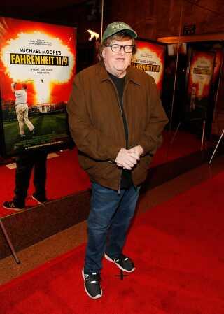 Michael Moore ses her til premieren på 'Fahrenheit 11/9' i Washington i september. Filmen har dansk premiere torsdag den 22. november.