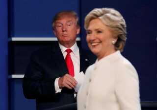 Der var ikke mange pæne ordvekslinger mellem de to kandidater under de sidste debatter ved præsidentvalget i efteråret 2016.