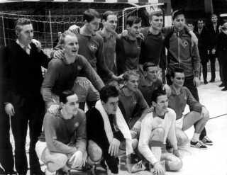 Det danske hold, der sikrede Danmark VM sølv i 1967. Slutrunden blev afholdt i Sverige.