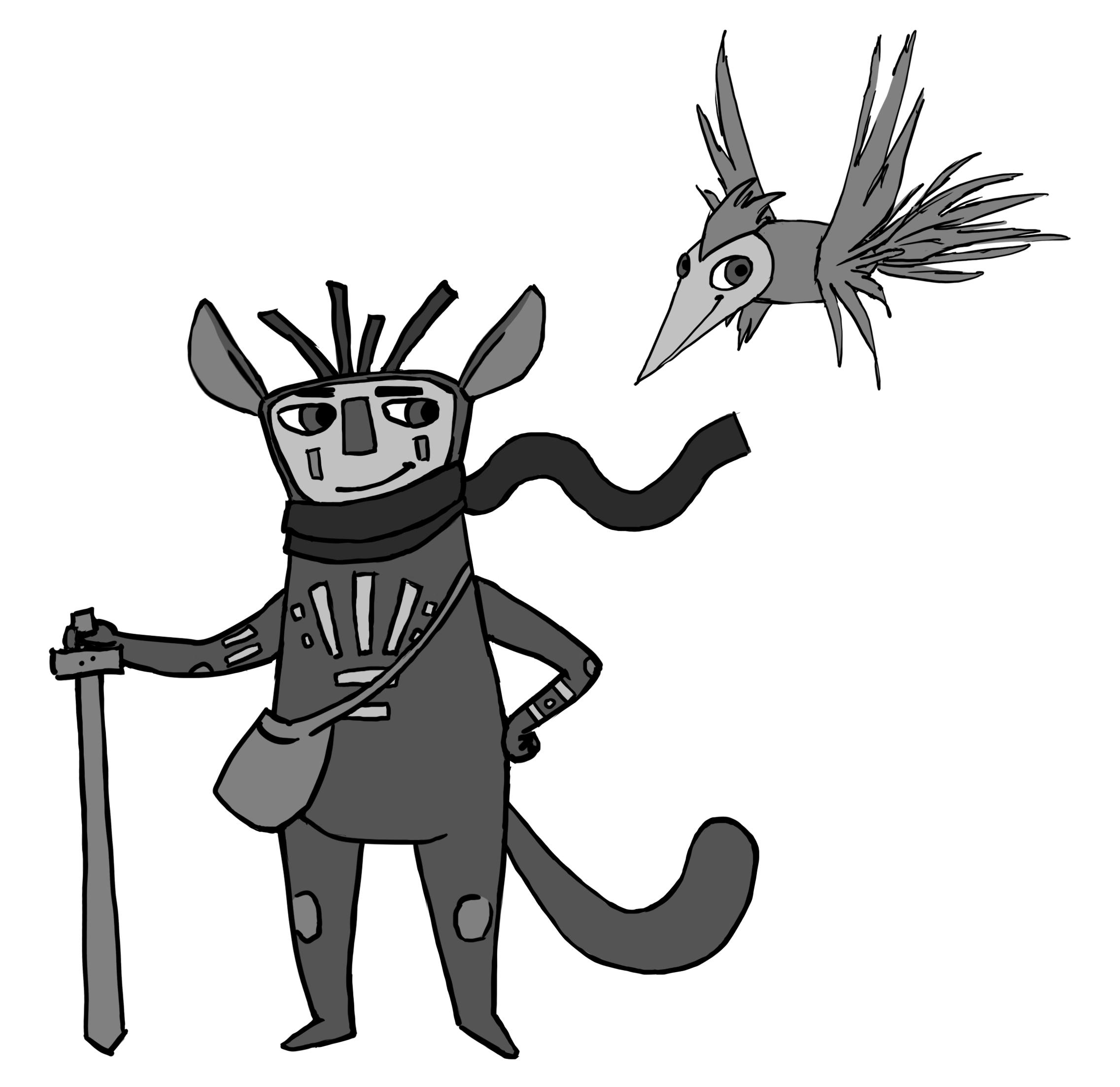 I spillet Figment kæmper Dusty i selskab med hjælperen Piper for at overvinde diverse farer.