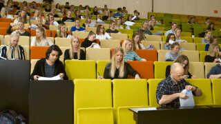 100 studerende på VIA University College i Aarhus tog en test, hvor de svarede på spørgsmål om stress, angst og depression.