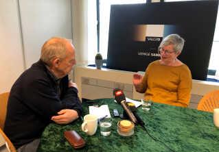 På DR Fyn har flere allerede mødtes i forbindelse med projektet 'Uenige Sammen'. Her er det Benny Hansen og Marianne Mitchel, der debatterer.
