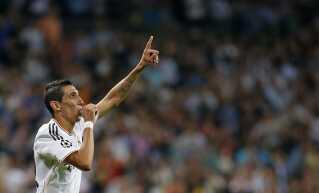 Angel Di Maria fejrer sin scoring mod FCK på Bernabeu.