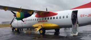 DAT-flyet, som søndag formiddag fløj knap 40 danskere hjem, efter en af de berørte Ryanair-kunder, Christian Anneberg, selv kontaktede DAT for at booke flyet.