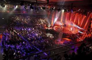 Sådan så det ud, da Forum Horsens sidst var værter for Melodi Grand Prix i 2008.