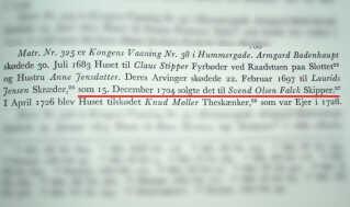 Fra H.U. Ramsings bog 'Københavns ejendomme 1377-1728'.
