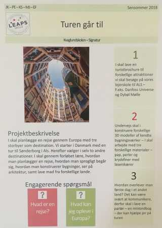 Sådan ser det første projekt ud for Kvaglund-skolens 7. årgang.