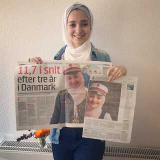 Den 20-årige Sedra al-Yousef blev i sommer en af landets superstudenter med et karaktergennemsnit på 11,7.