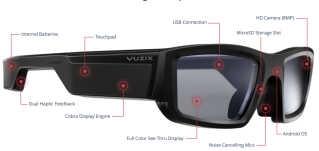 Opbygningen af Vuzix' smart-brille.