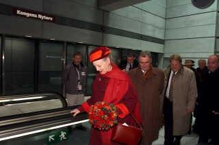 Dronning Margrethe og prins Henrik var med til den officielle åbning af Københavns Metro lørdag den19. oktober 2002.