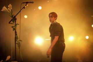 Iceage spillede på Arena under Roskilde Festival fredag d. 6. juli 2013. (Foto: Katrine Emilie Andersen/Scanpix 2013) sendxnet