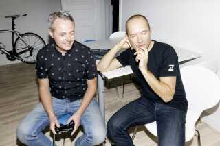 Søren Jepsen til venstre og Jacob Honoré til højre har sammen deres tredje makker Bo Daugaard stået i spidsen for arbejdet på 'Fimbul' siden 2014.