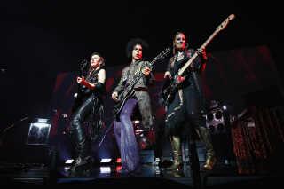 Ida Nielsen og Prince med bandet 3RDEYEGIRL, som Ida Nielsen også var en del af.