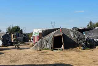 Lejr ved Norrent-Fontes i det nordlige Frankrig.