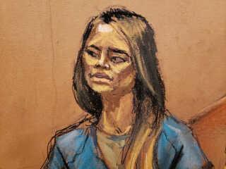 Retstegning af elskerinden, Lucero Guadalupe Sanchez Lopez, som vidner.