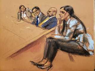 Retstegnerens indtryk af Emma Coronel.