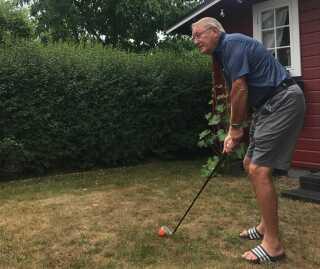 Bosse lærte at spille golf i 1998, og han har gjort det ivrigt lige siden.