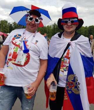 De russiske fans fik, hvad de kom for. I hvert fald i første kamp, der endte 5-0 over Saudi-Arabien.