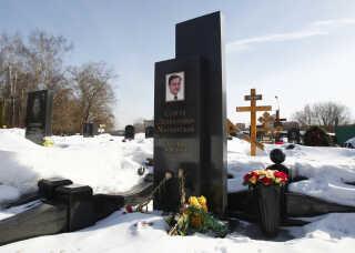 Sergei Magnitskijs grav i Moskva, Rusland.