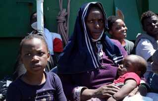 Massé er flygtet fra Cameroun med sine to børn. Foto: Christina Nordvang Jensen