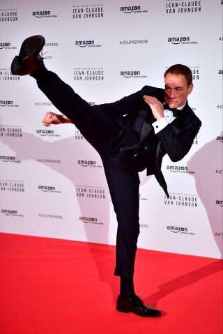 Jean-Claude Van Damme i forbindelse med verdenspremieren på Amazon-serien 'Jean-Claude Van Johnson' i Paris. Første sæson har premiere i dag på Amazon Prime Video.