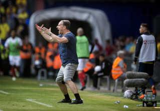 Brøndbys Cheftræner Alexander Zorniger under DBU pokalfinalen mellem Silkeborg IF - Brøndby IF i Telia Parken torsdag den 10 maj 2018.