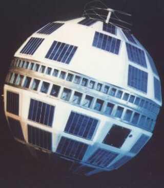 Telstar-satellitten blev opsendt den 10. juli 1962. (Foto: Creative Commons)