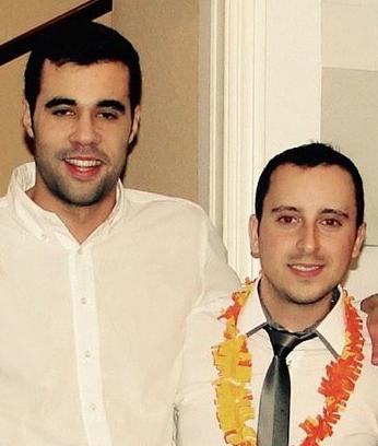 Vennerne Marcos Lopez og Carlos Fernandez nytårsaften 2016.