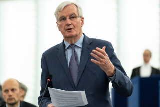 Michael Barnier, EU's brexit-forhandler under en debat i EU-Parlamentet tidligere i dag.