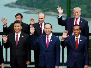 Donald Trump var til Apec-topmøde i Da Nang i Vietnam i 2017.