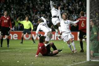 FC København slog Manchester United med 1-0 i Parken i november 2006 på et mål af Marcus Allbäck.