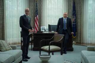Frank Underwood (Kevin Spacey) sammen med sin Chief of Staff Doug Stamper (Michael Kelly).
