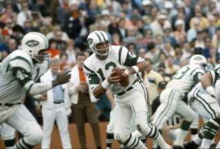 Her se legenden Joe Namath ved Super Bowl i 1969.
