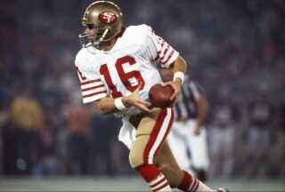 Legenden Joe Montana for 49ers i 1982.