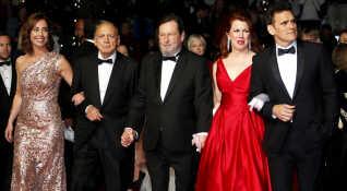 Bruno Ganz til Cannes Filmfestival sammen med Sofie Gråbøl, Lars Von Trier, Siobhan Fallon Hogan og Matt Dillon.