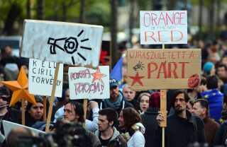 Mandag i denne uge var der igen demonstration mod regeringen i Budapest.