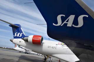 SAS-ruten mellem Aalborg og København er en populær indenrigsrute.