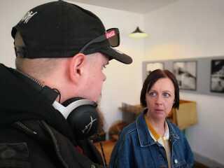 Mette Løjmann Hansen har tidligere været misbruger. Nu bruger hun sin egen livshistorie til at gøre museumsgæsterne klogere på livet på Fattiggården i gamle dage.