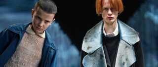 'Eleven' fra 'Stranger Things' (tv) var ikke til modeugen, men hele stilen fra Netflix-serien skinnede kraftigt igennem hos designeren Martin Asbjørn. Foto: Netflix og Helle Moss